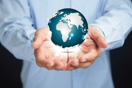 Hands presenting earth globe concept Image - Stock by Pixlr