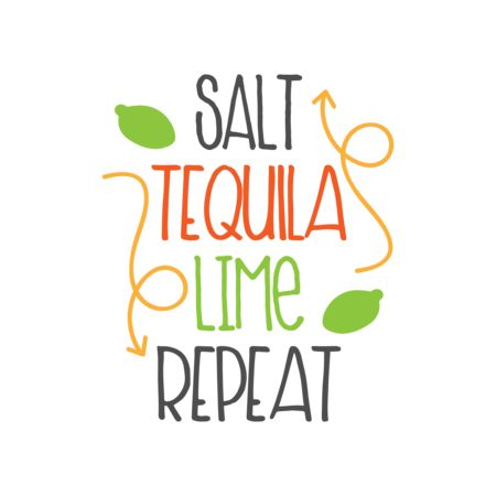 Salt Tequila Lime Repeat Graphic Vector Stock By Pixlr