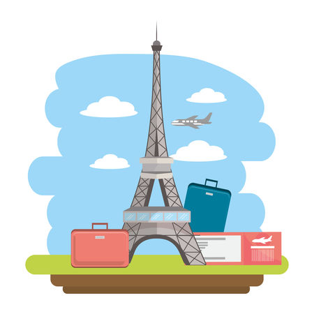 Eiffel Tower In Paris France Tourist Attraction And Landmark Cartoon Vector Illustration Graphic Design Graphic Vector Stock By Pixlr