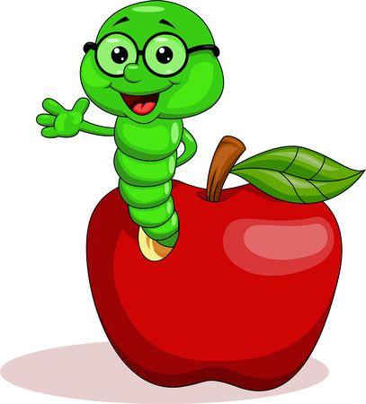 Cartoon Caterpillar In The Apple House Graphic Pixlr Market