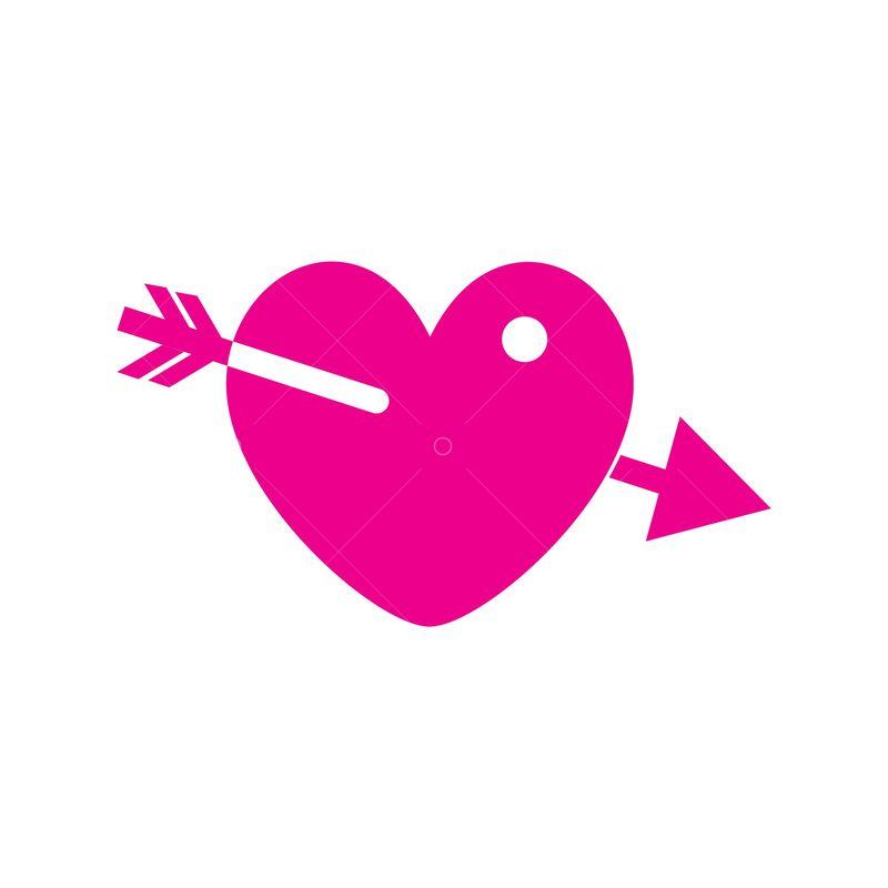 Arrow Through Heart Graphic Vector Stock By Pixlr