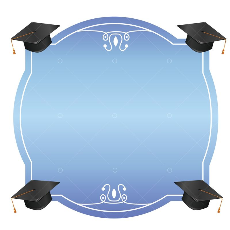 Graduation Frame Graphic Vector Stock By Pixlr