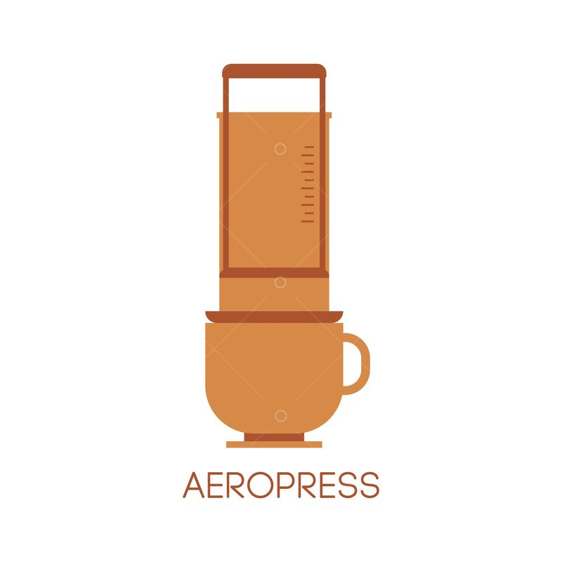 Aeropress Graphic Vector Stock By Pixlr
