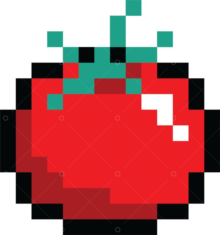 Pixel Art Gaming Tomato Graphic Vector Stock By Pixlr After a year of updating the game on xbox and several. pixel art gaming tomato graphic vector