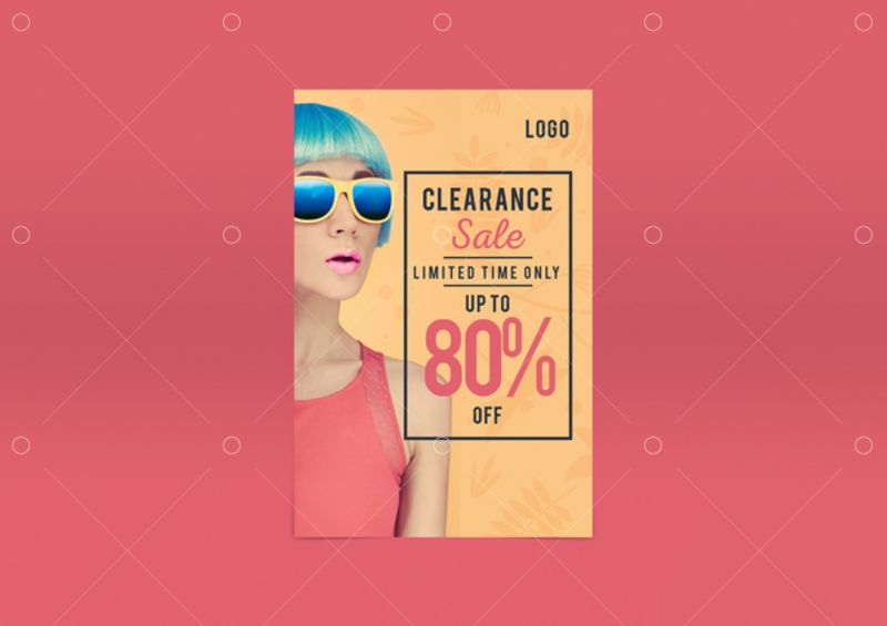 Fashion Sale Pinterest Social Media Post Template Stock By Pixlr
