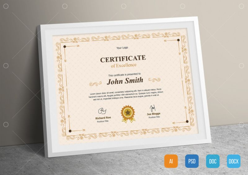 Professional Certificate Template from preview.pixlr.com