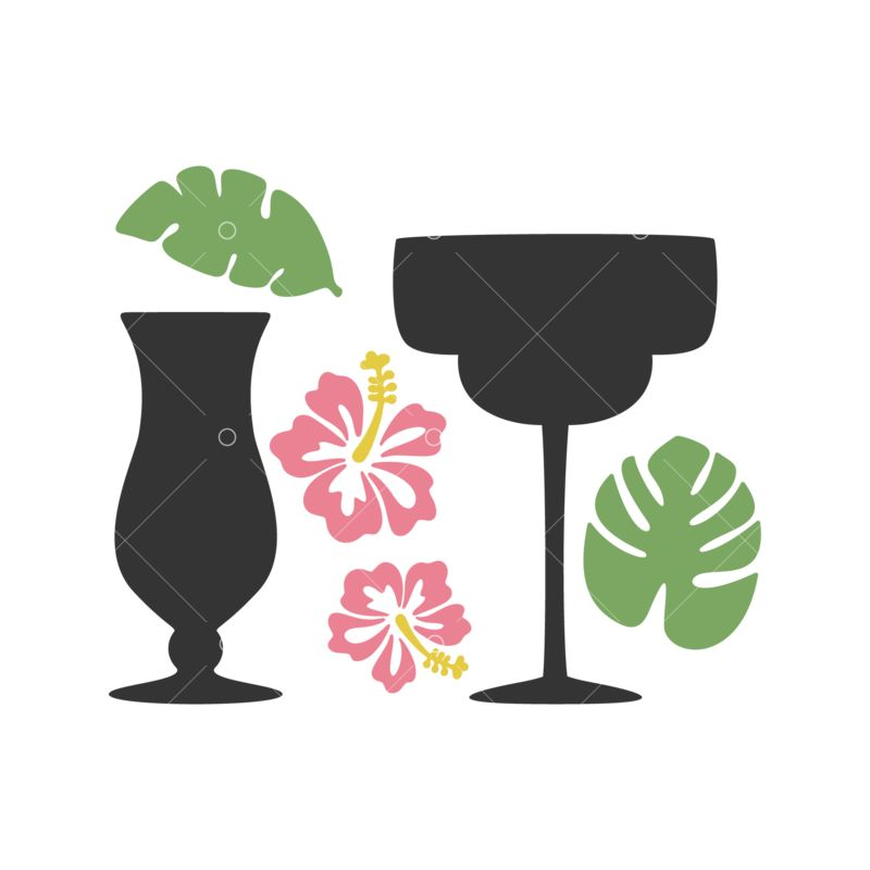 Cocktail Silhouettes Graphic Vector Stock By Pixlr
