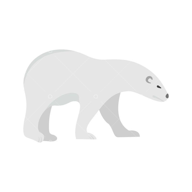 walk of polar bear icon flat illustration of walk of polar bear vector icon for web isolated on white graphic vector stock by pixlr polar bear icon flat illustration