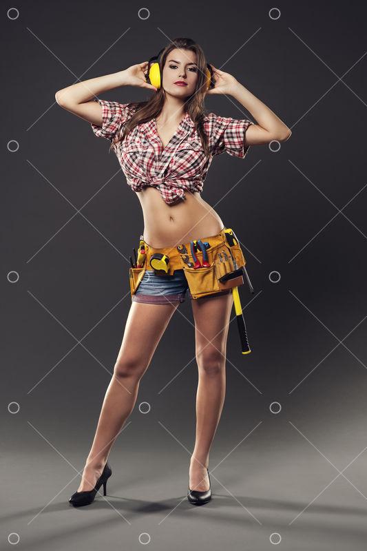 Sexy Female Worker