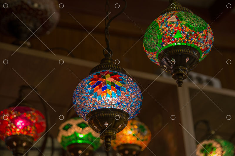 Turkish Bazaar Sale In The Market Souvenirs For Tourists Traditional Bright Decorative Hanging Turkish Lights And Colourful Light Lamps With Vivid Colours In Turkey Image Stock By Pixlr