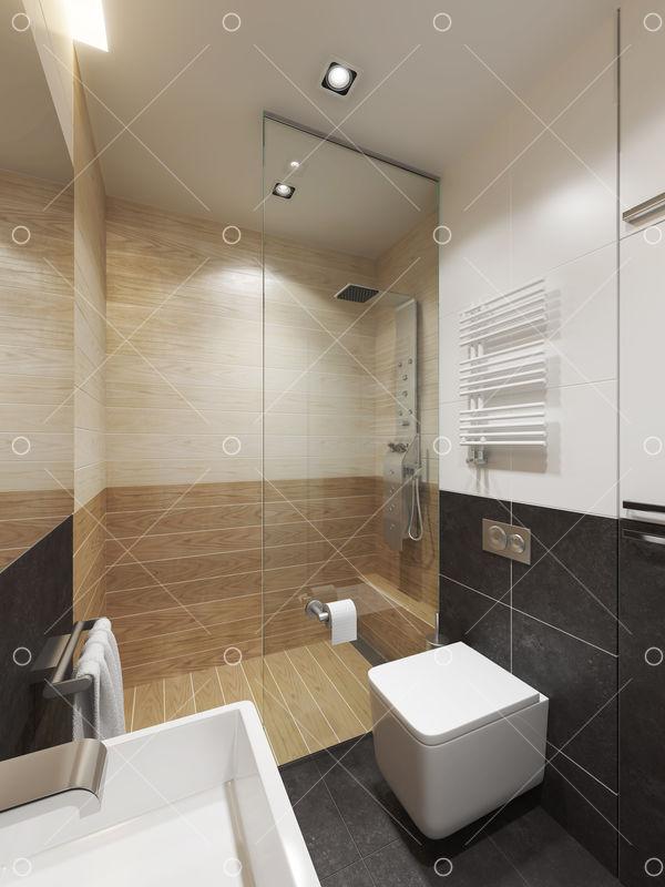 Modern Bathroom Interior 3d Rendering Image Stock By Pixlr