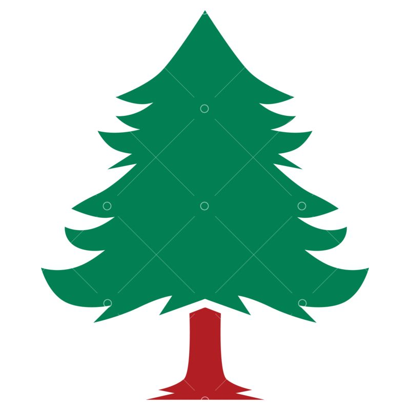 Christmas Tree Svg Cut File Graphic Vector Stock By Pixlr