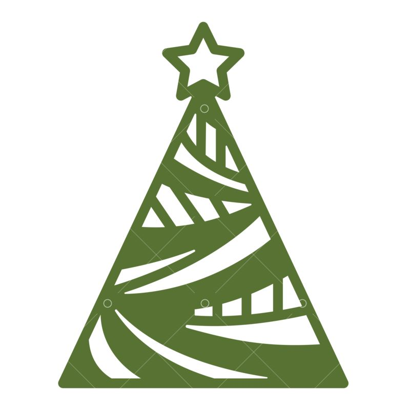 Geometrical Christmas Tree Svg Cut File Graphic Vector Stock By Pixlr