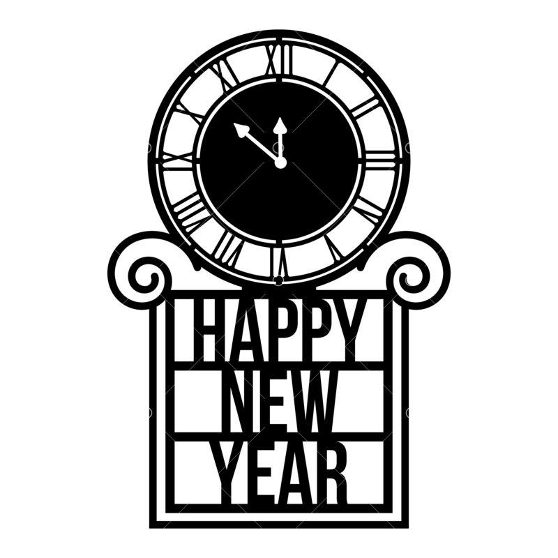 12+ Happy New Year Clock Svg Image
