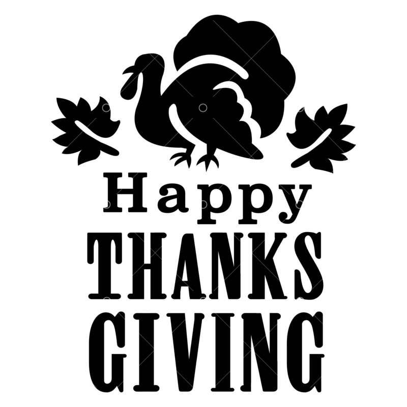 Happy Thanksgiving Day Svg Cut File Graphic Vector Stock By Pixlr
