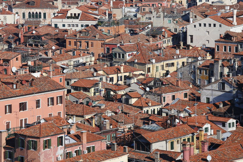 Lots Of Houses With Red Tile Roofs And Bricks In Southern Europe Image Stock By Pixlr