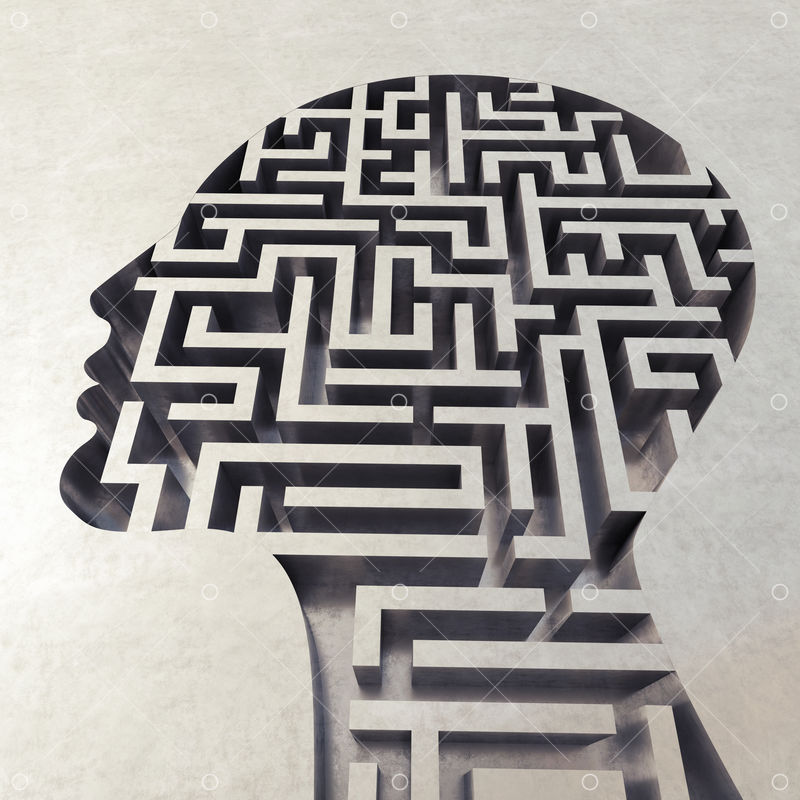 3D Rendering of head with complicated maze Image - Stock by Pixlr