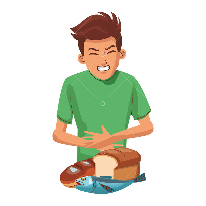 young man with stomach ache and food vector illustration graphic design graphic vector stock by pixlr food vector illustration graphic design