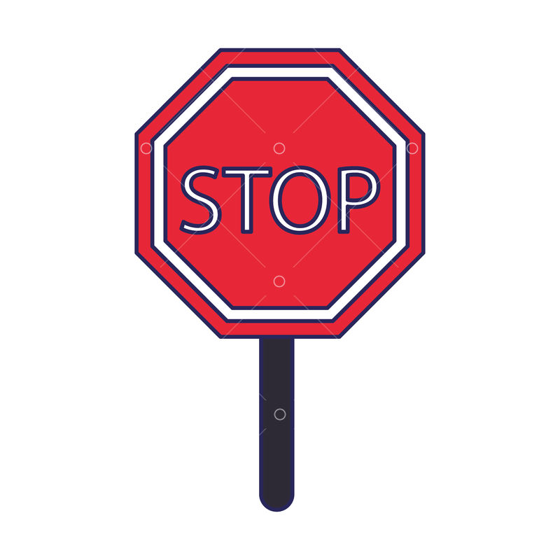 Stop Sign Icon Cartoon Isolated Vector Illustration Graphic Design Graphic Vector Stock By Pixlr