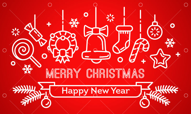 merry christmas and happy new year banner outline illustration of merry christmas and happy new year vector banner for web design graphic vector stock by pixlr pixlr