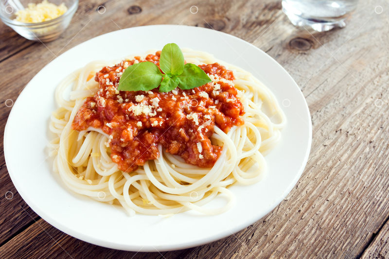 Spaghetti Bolognese Pasta With Tomato Sauce And Minced Meat Grated Parmesan Cheese And Fresh Basil Homemade Healthy Italian Pasta On Rustic Wooden Background Image Stock By Pixlr