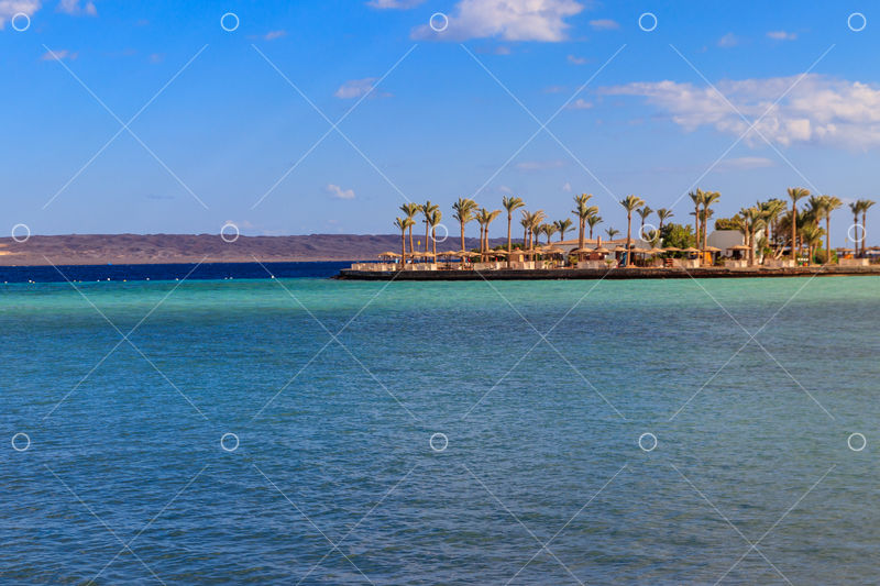 View Of Red Sea Coast On The Beach In Hurghada Egypt Image Stock By Pixlr