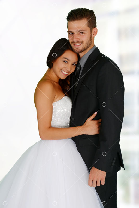 Woman In A Beautiful White Wedding Dress With Groom Image Stock By Pixlr