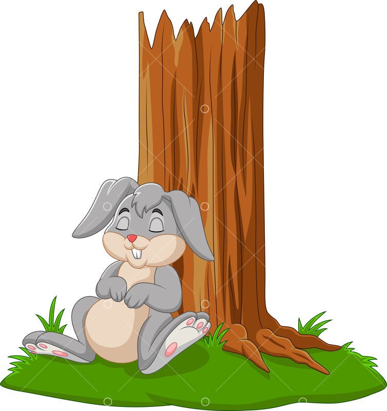 Vector Illustration Of Cartoon Rabbit Sleeping Under Tree Graphic Vector Stock By Pixlr Nightwish is just a foal when she first hears the story. vector illustration of cartoon rabbit