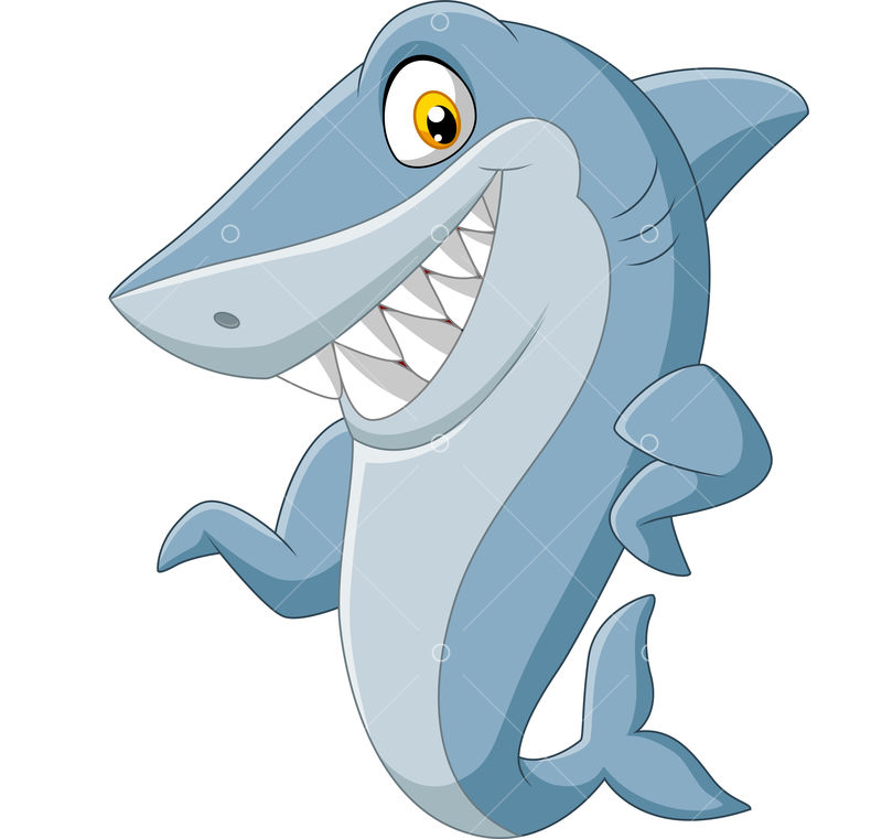 Vector Illustration Of Cartoon Shark Waving On White Background Graphic Vector Stock By Pixlr
