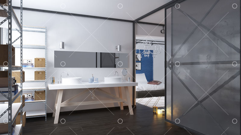 Modern Loft Bathroom Interior 3d Rendering Design Concept Image Stock By Pixlr