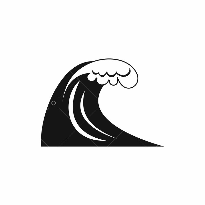 Big Wave Icon Simple Style Image Stock By Pixlr See more ideas about waves icon, waves, wave drawing. big wave icon simple style image