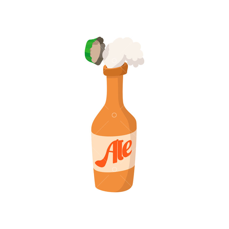 Open Bottle Of Beer Cartoon Icon On A White Background Image Stock By Pixlr