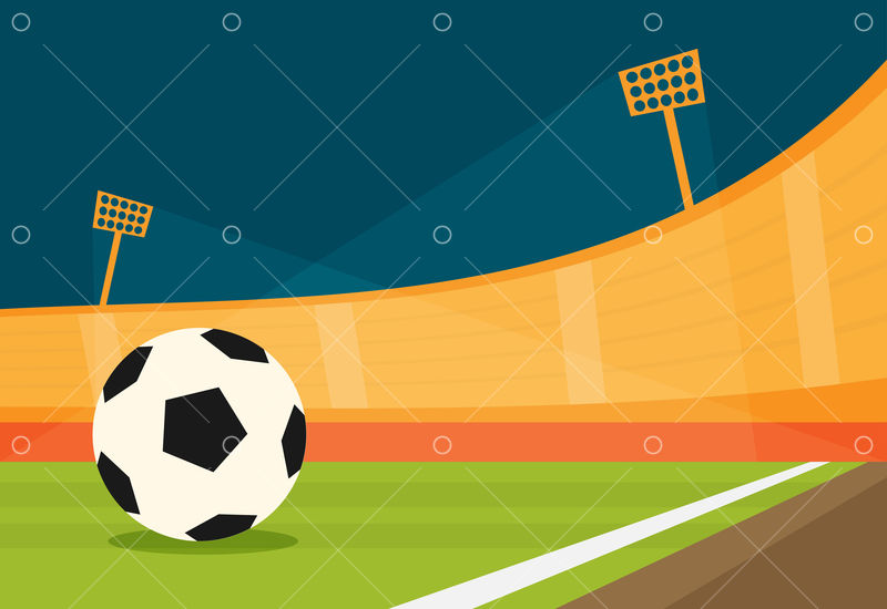 background of football stadium vector flat design illustration graphic vector stock by pixlr background of football stadium vector