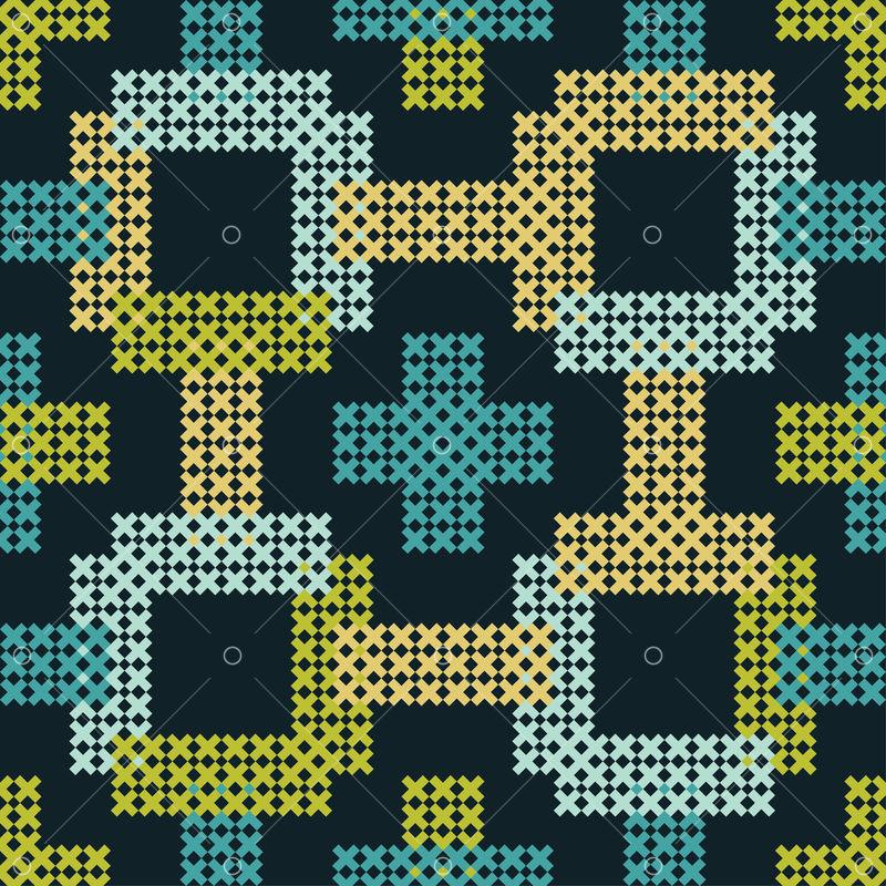 Geometric cross stitch bohemian Cross Stitch square cross stitch colorful