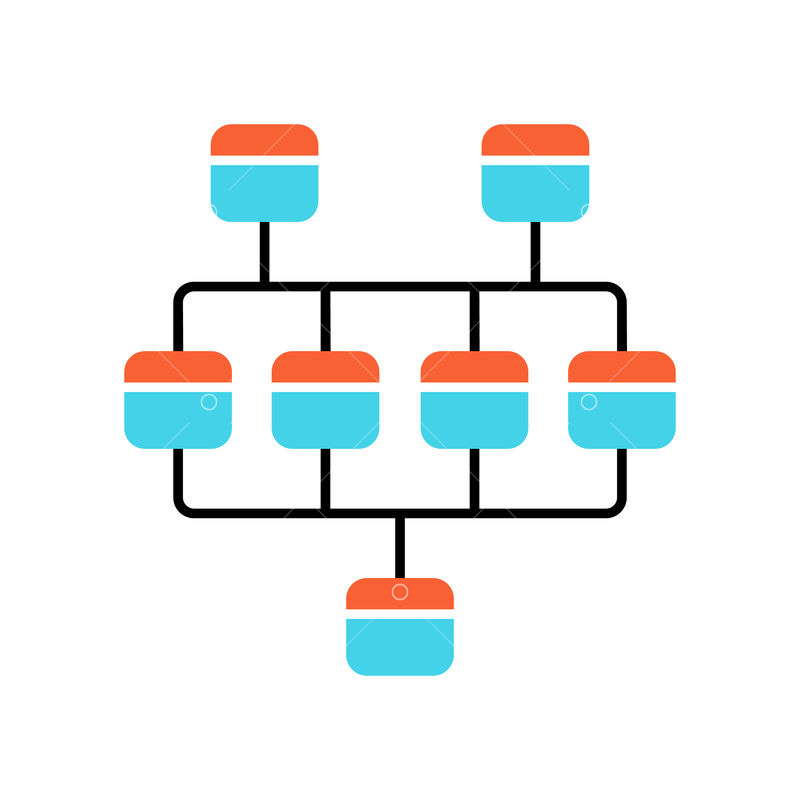 Network Diagram Color Icon Cluster Diagram Vertices And Edges Of Graph Computer Science Network Graphical Chart Computers Structure Interconnected System Isolated Vector Illustration Graphic Vector Stock By Pixlr