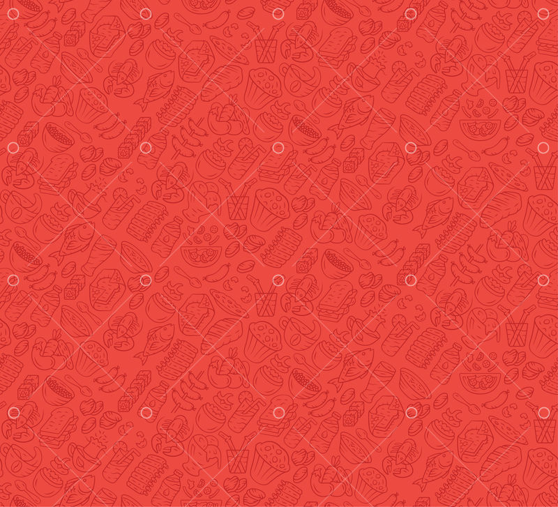 Food Vector Seamless Pattern Cuisine Fast Food Cafe Wallpaper With Gastronomy Icons Red Ruby Color Texture Decorative Textile Wrapping Paper Design Bright Background For Menu Receipts Graphic Vector Stock By Pixlr