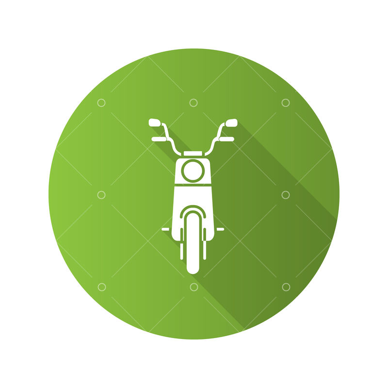 scooter in front view flat design long shadow glyph icon motorbike vector silhouette illustration graphic vector stock by pixlr pixlr