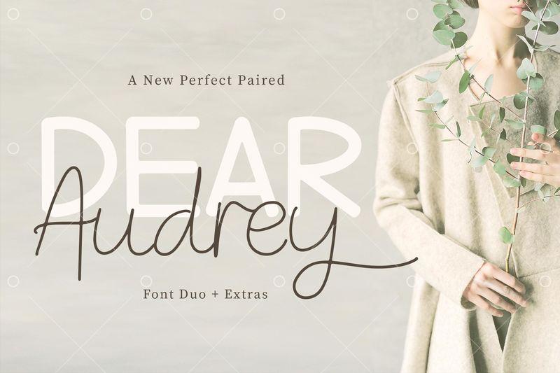 Dear Audrey Handwritten Font Duo