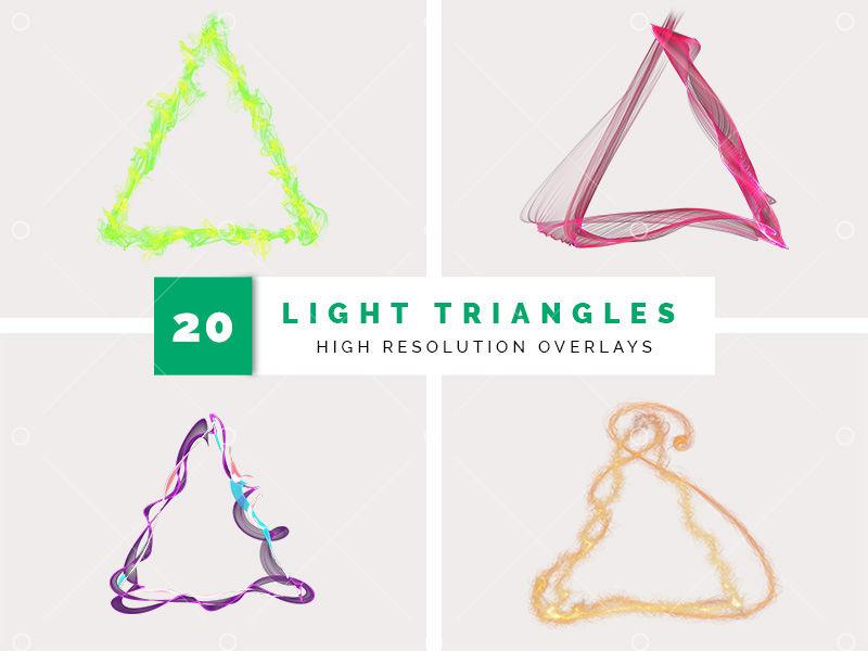 Light Triangles Graphic Pixlr Market